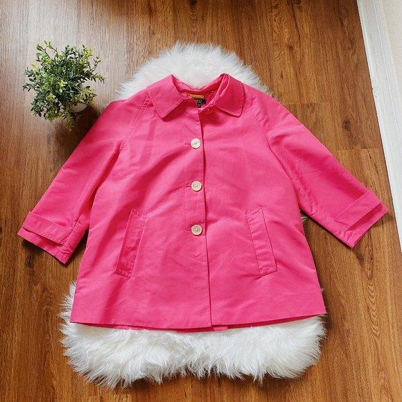 Lauren Ralph Laurent Hot Pink Rain Coat - Large